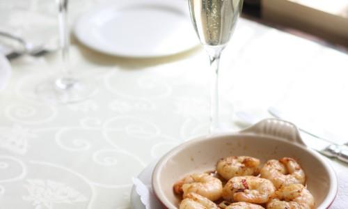 Crevetten mit Prosecco