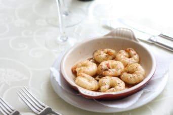 Crevetten genießen in Zürich Sihlfeld - Restaurant Grotto Reale
